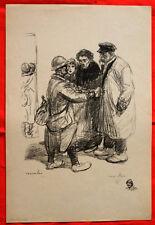 Lithographie - Steinlen - Les adieux - Guerre 14-18-