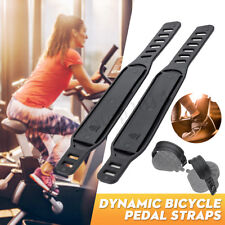 Pair Exercise Bike Bicycle Pedal Straps Belts Home Fitness Gym Life Adjustable