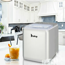 Portable Ice Maker Machine Countertop 44lbs24h Self Cleaning With Scoop Silver
