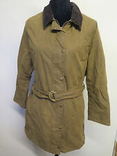 Ladies Barbour L1700 Newmarket Mac Waxed Cotton Coat Jacket UK 16 Euro 42 -Brown