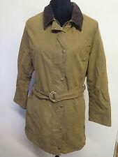 Ladies Barbour L1700 Newmarket Mac Waxed Cotton Coat Jacket UK 16 Euro 42 -Brown
