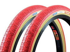 OLD SCHOOL BMX FREESTYLE TYRES PANARACER 20 x 1.75 RED SOLD IN PAIRS OF 2