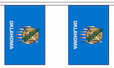 OKLAHOMA U.S. STATE BUNTING 9 metres 30 flags Polyester flag