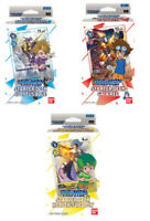 Digimon Starter Deck 3-Pack (Gaia Red ST-1, Cocytus Blue ST-2, Heavens Yellow)