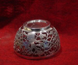 C1900 Chinese Export Solid Silver Reticulated Bowl