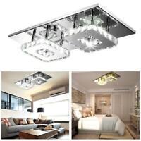 24W LED Ceiling Lamp Modern Flush Mount Crystal Chandelier Pendant Lighting