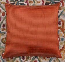 """Rust 16 """" Striped Dupioni Silk Pillow Cushion Cover Sofa Throw Bohemian Decor"""