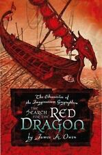SIGNED SKETCHED by James A Owen - The Search For the Red Dragon HC 1st/1st + Pic