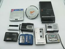 Lot of 10 Vintage Sony Walkman & Discman Cd Cassette Players Untested/For Parts