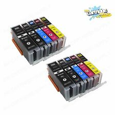 10Pk PGI-250XL CLI-251XL Ink For Canon Pixma MG5422 5520 5522 6320 6420 7120