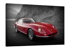 1965 Ferrari 275 GTB 3C Acciaio 30x20 Inch Canvas - Classic Car Framed Picture