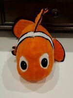 "Large Huge Disney Store Exclusive Pixar Finding Nemo Clown Fish Plush 18"" EUC"