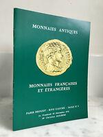 Catálogo De Venta Monedas Antiguo Monedas Francesas Y Internacionales 1976