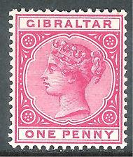 Gibraltar 1886/87 rose 1d mint SG9