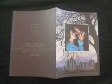 "1996 William Hurt, Charlotte Gainsbourg "" Jane Eyre "" Japanese Movie Program"