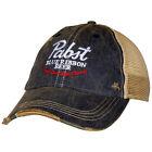 Pabst Blue Ribbon Beer Good Old Flavor Vintage Trucker Hat Blue
