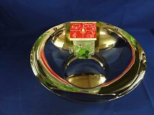 """New in box Alessi """"Ba-Rock"""" Bowl in Stainless Steel  w/ Charms (Amsa25)"""