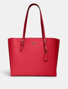 New COACH Mollie Tote 1671 IM/Electric Pink Wine
