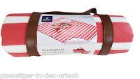 TCM Tchibo Picknickdecke Decke Picknick wasserabweisend Fleecedecke 130 x 150 cm