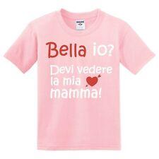 Simpatica T-shirt bambina Bella io? Devi vedere la mia mamma