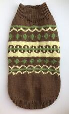 Handknit cotton jackquard Pet Sweater, Cat Sweater,Cat Clothes,small dog coat