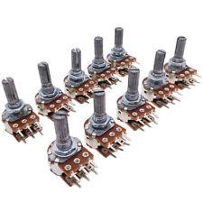 US Stock 10pcs 20K ohm B20K Dual Stereo Potentiometer Pots Shaft S 15mm 6Pin