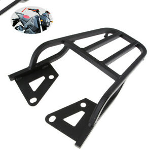 Motorcycle Bike Trunk Seat Rear Metal Box Tail Fin Shelf Metal Luggage Rack Kit