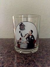 Saturday Evening Post Norman Rockwell COURTING AT MIDNIGHT Glass Tumbler