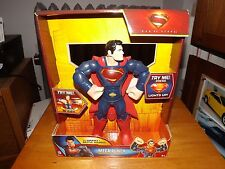 "MAN OF STEEL, MEGA PUNCH SUPERMAN 10"" FIGURE, LIGHTS UP AND SPEAKS, NIB, 2013"