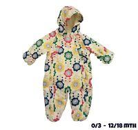 Baby Girls Pramsuit Snowsuit Winter Coat Warm Hooded Fully Fleece Lined RRP £25