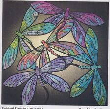 Dance of the Dragonflies - raw edge applique wall Quilt PATTERN