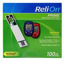 100 COUNT- ReliOn Prime Blood Glucose Test Strips(EXP. AUG2021) FREE SHIP USA