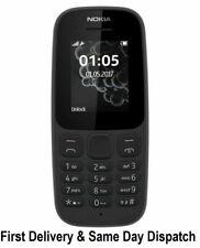 "Nokia 105 (2019) 4th Edition 4MB 1.77"" Reino Unido Móvil Desbloqueado-Negro-Dual Sim-UK"