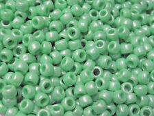Bright Green Pearl 9x6mm USA made Pony Beads 500pc crafts kandi jewelry