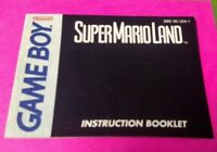 Super Mario Land  - Nintendo Game Boy Instruction MANUAL ONLY - No Game
