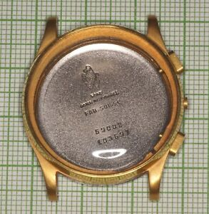 Movado M90 vintage chronograph case 32mm gold plated NOS