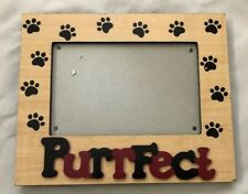 """Purrfect Paw Brown Red 6 3/4X8"""" Frame Holds 4X6"""" Photo"""