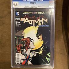 Batman 14 2013 New 52 Harley Quinn 1:25 Variant Death Of The Family CGC 9.6
