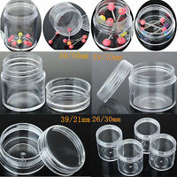 5X Small Plastic Clear Retangle Storage Container Jewelry Bead Display Boxes