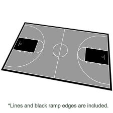46ft x 78ft Outdoor Basketball Full Court Kit-Lines and Edges Include-Black/Gray