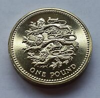 2002  £1 coin English Three Lions BU Rare One Pound coin hunt