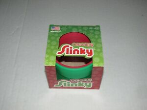 Original Slinky Red Green Christmas Holiday Original Box 2010 Poof New Toy Kids