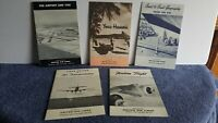 1950's Vintage Airlines School + College Service Booklets Hawaii Lot Of 5 B1