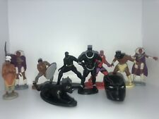 MARVEL BLACK PANTHER CAKE TOPPERS 10 PLASTIC FIGURES BRAND NEW UK STOCK