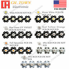 Active Components 20pcs 1w Cool White Warm White Red Green Royal Blue Orange Yellow Purple Uv 660nm Smd Lamp Light Daylight High Power Led Beautiful In Colour Diodes