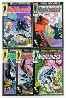 Nightmask #1-5 (1986 Marvel Comics) New Universe! Unread! NM
