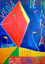 Nicola de Maria affiche offset Art Abstrait Tennis Roland Garros sport 1988
