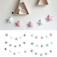 BG_ EB_ KF_ Nordic Star Pendant Baby Bed  Garland Hanging Ornament Kids Room Dec
