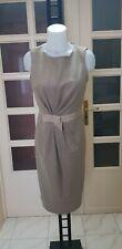 MAX MARA vestito donna color tortora tg 42 (misure descrizione)