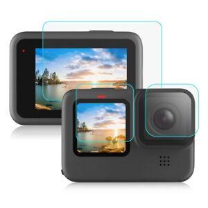 Für GoPro HERO 9 Black Camera Lens Schutz + Display Glas Linse Folie Zubehör LCD